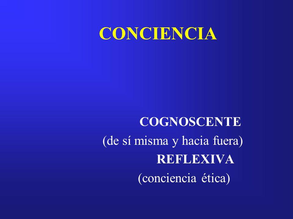 COGNOSCENTE (de sí misma y hacia fuera) REFLEXIVA (conciencia ética)