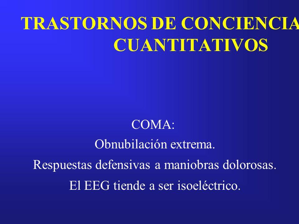 TRASTORNOS DE CONCIENCIA CUANTITATIVOS