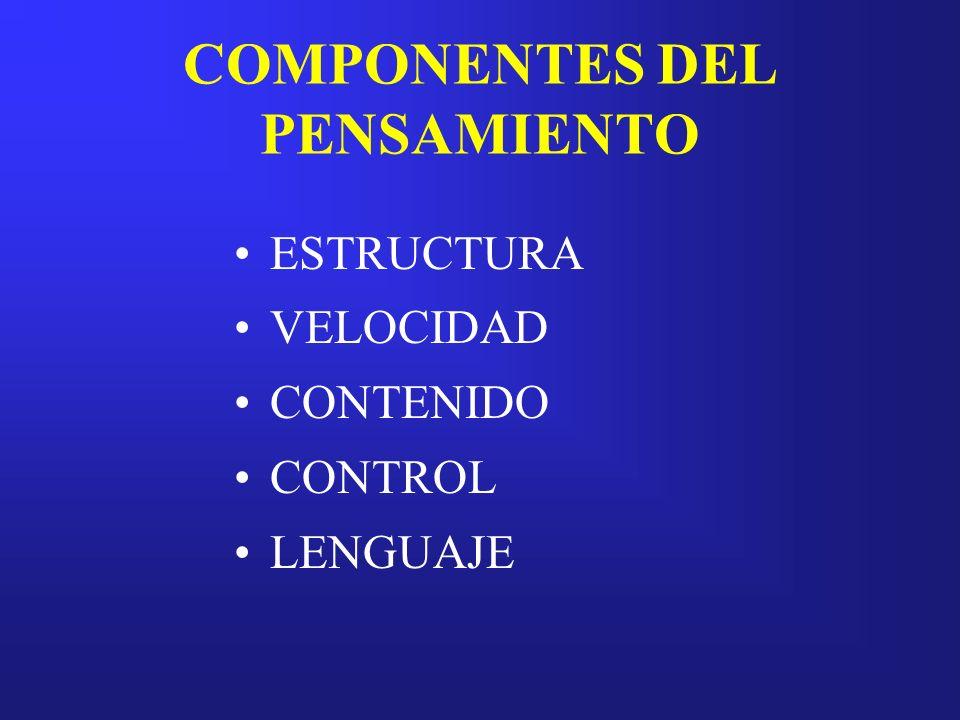 COMPONENTES DEL PENSAMIENTO
