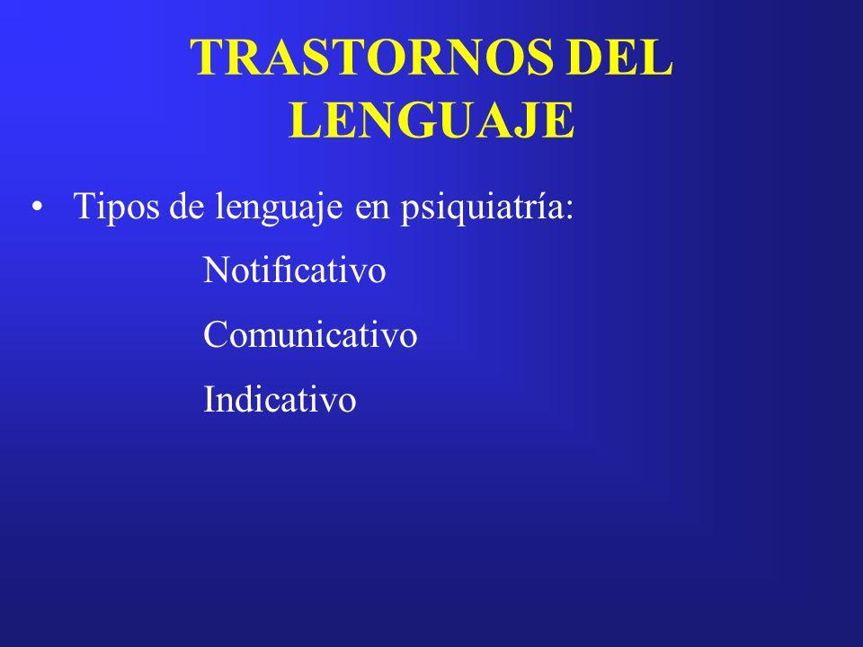 TRASTORNOS DEL LENGUAJE