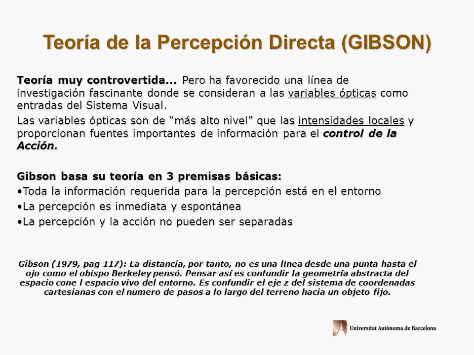 Teoría de la Percepción Directa (GIBSON)
