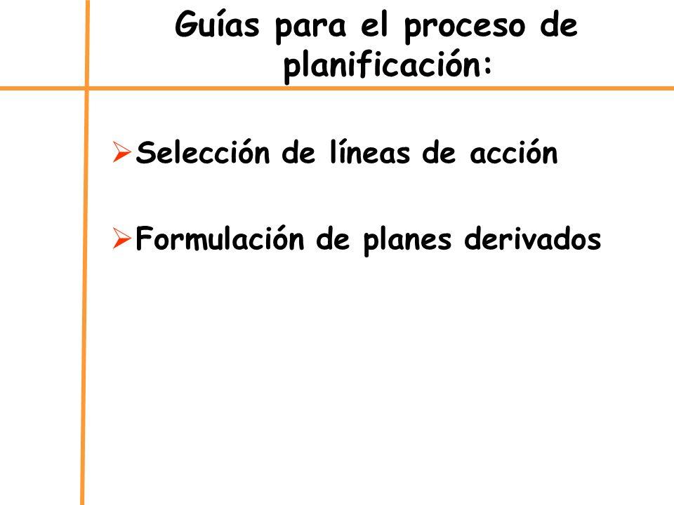 Guías para el proceso de planificación: