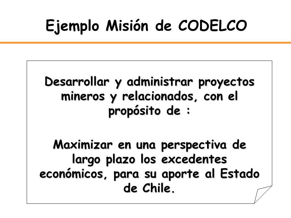 Ejemplo Misión de CODELCO