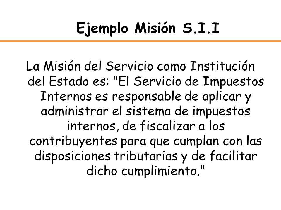 Ejemplo Misión S.I.I