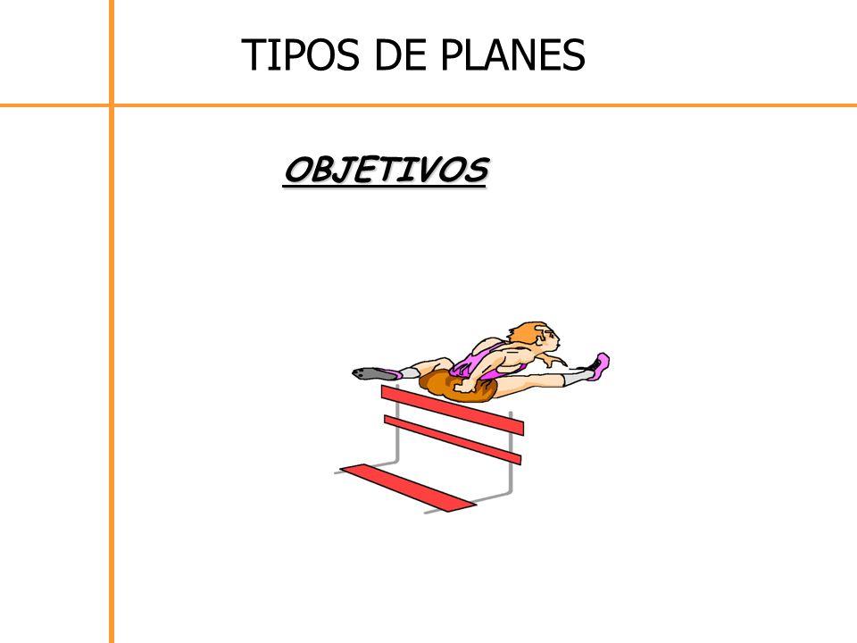 TIPOS DE PLANES OBJETIVOS