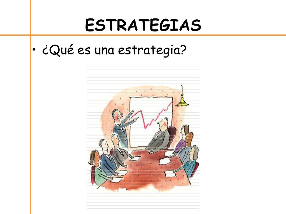 ¿Qué es una estrategia ESTRATEGIAS