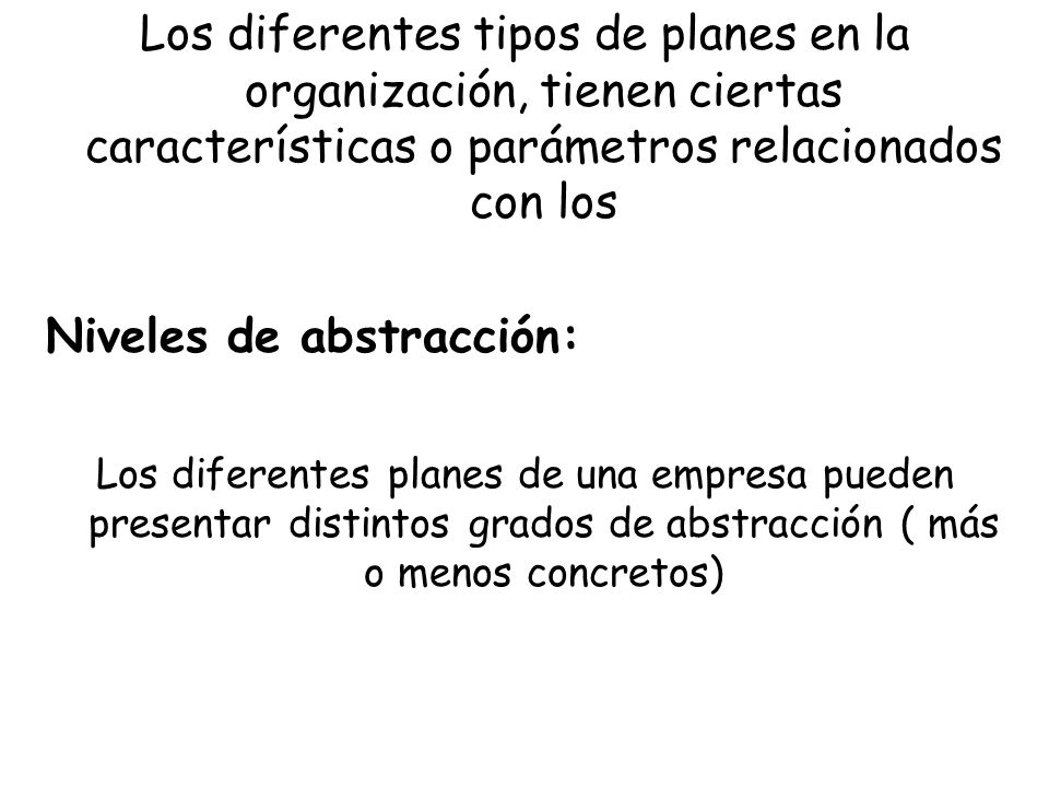 Niveles de abstracción: