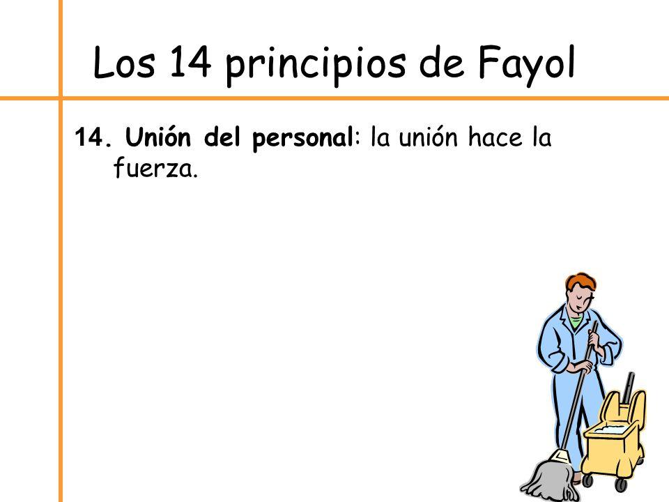Los 14 principios de Fayol