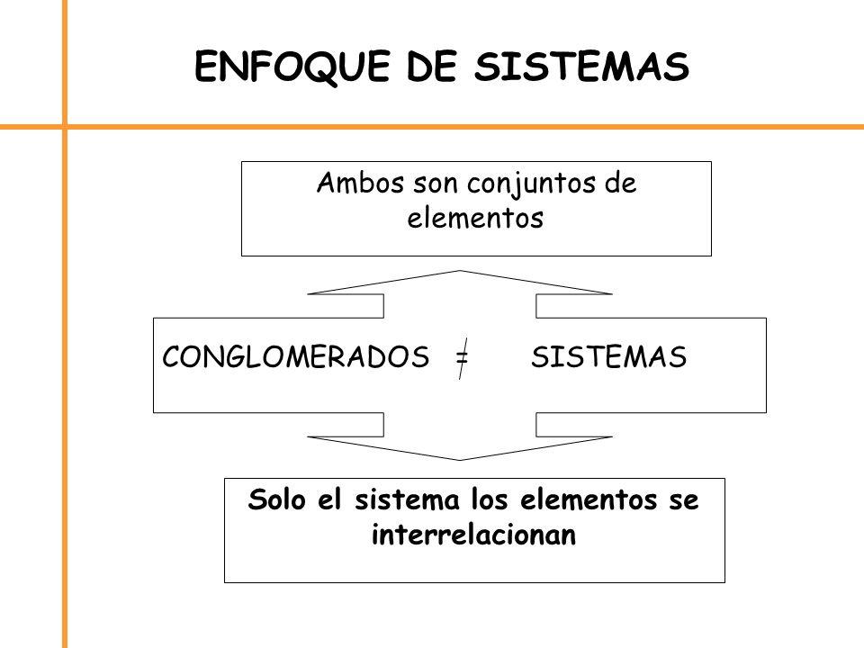 Solo el sistema los elementos se interrelacionan