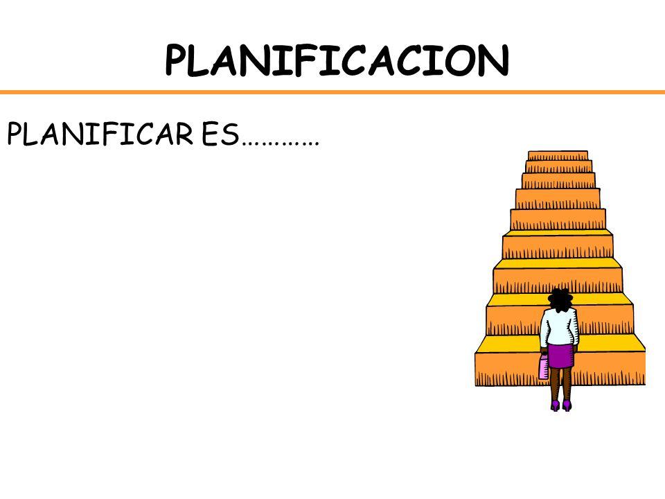 PLANIFICACION PLANIFICAR ES…………