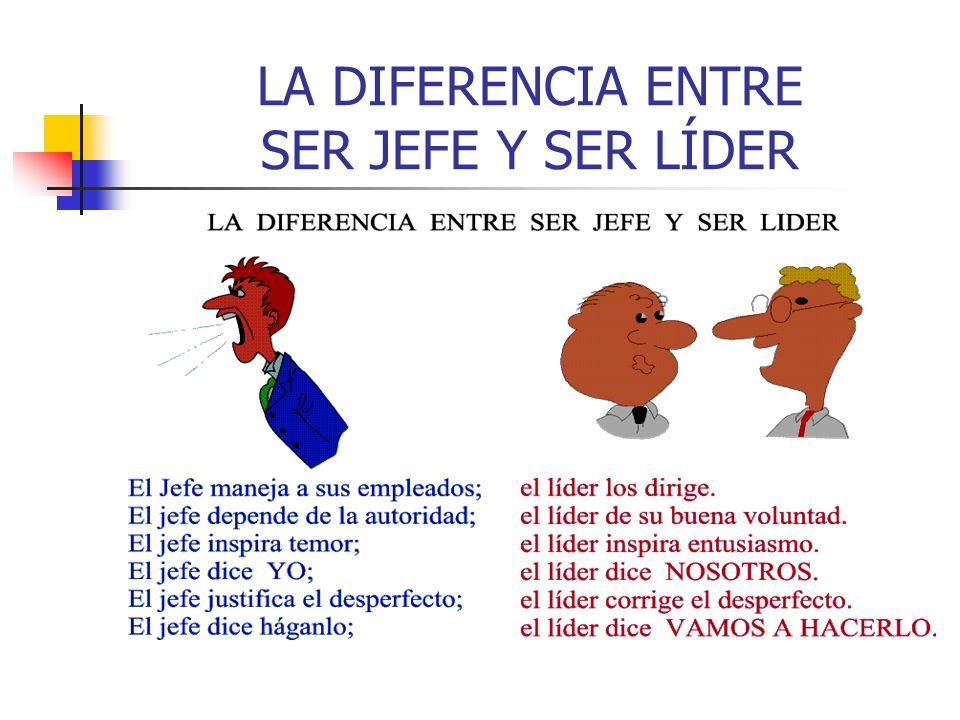 LA DIFERENCIA ENTRE SER JEFE Y SER LÍDER