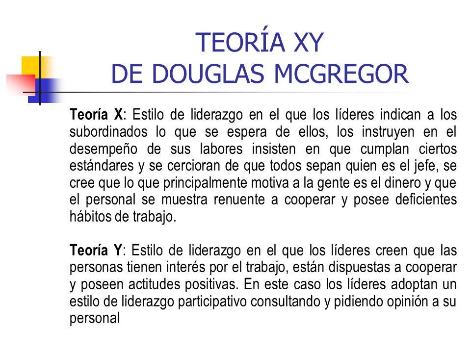 TEORÍA XY DE DOUGLAS MCGREGOR