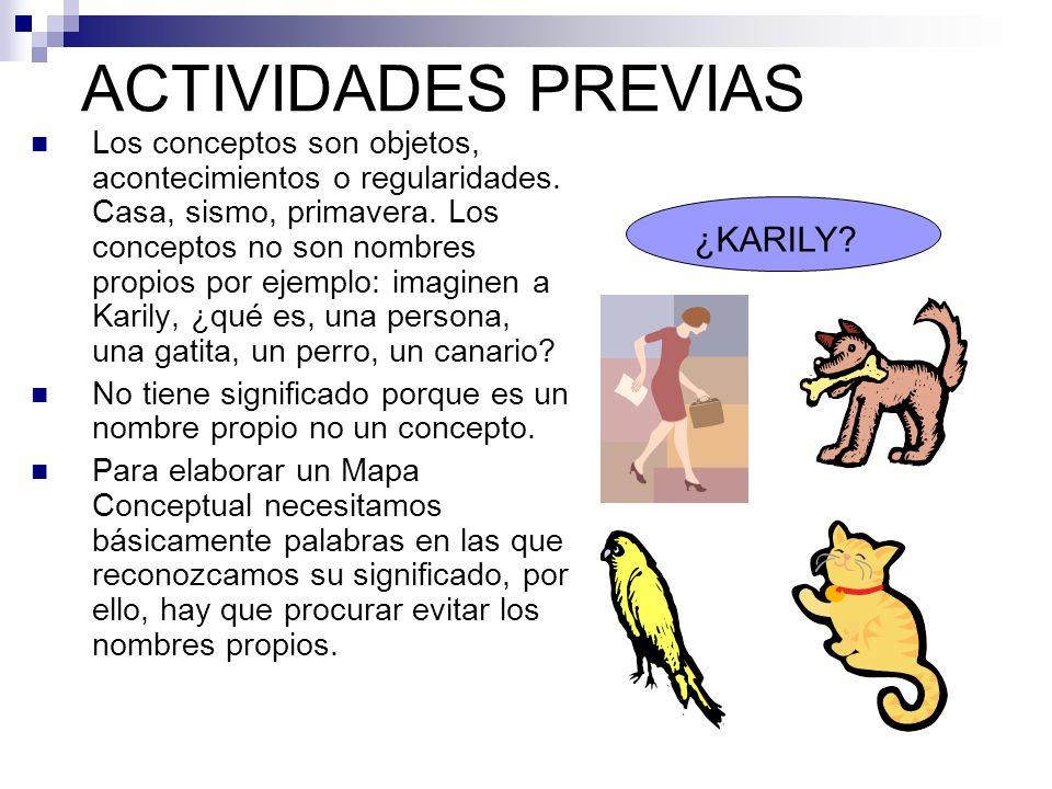 ACTIVIDADES PREVIAS ¿KARILY