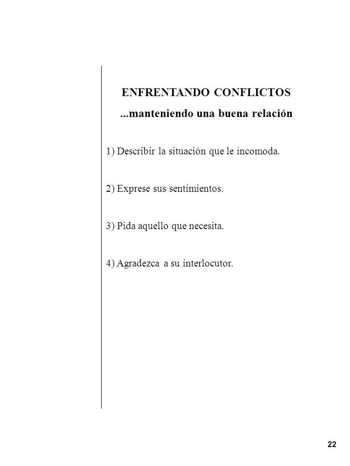 ENFRENTANDO CONFLICTOS
