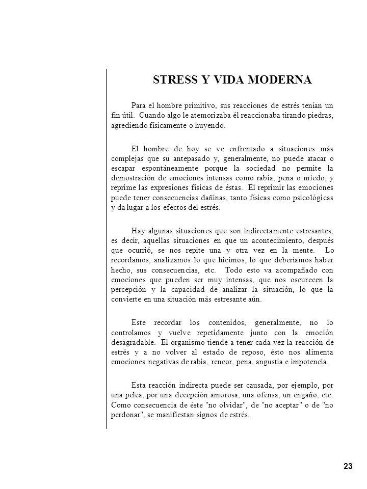 STRESS Y VIDA MODERNA