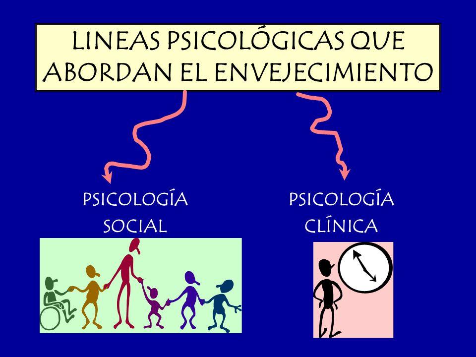LINEAS PSICOLÓGICAS QUE ABORDAN EL ENVEJECIMIENTO