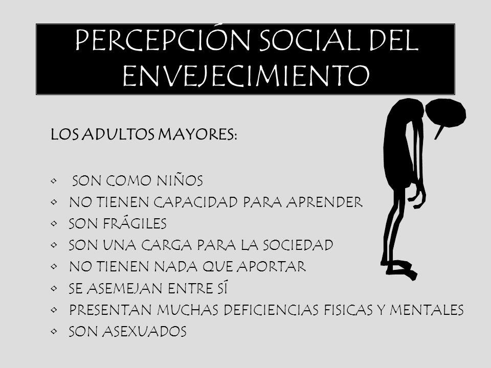 PERCEPCIÓN SOCIAL DEL ENVEJECIMIENTO