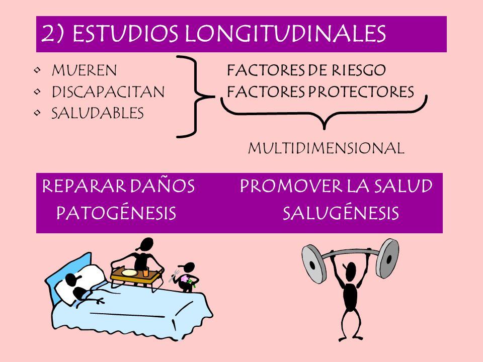 2) ESTUDIOS LONGITUDINALES