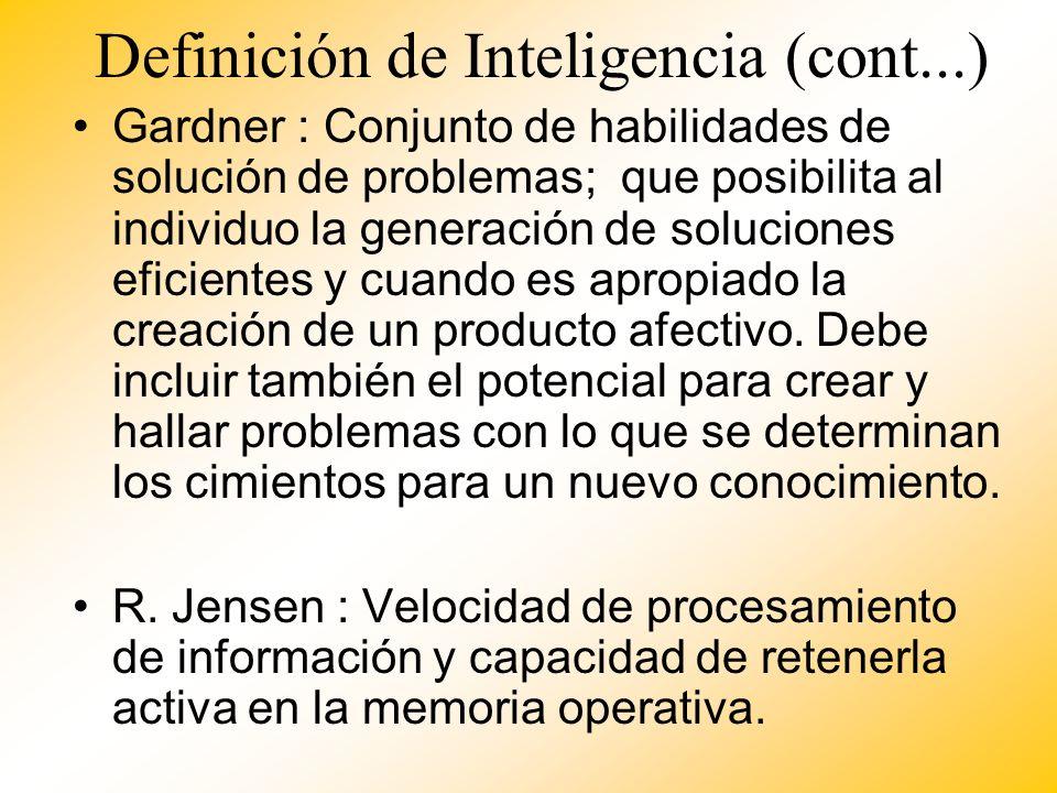 Definición de Inteligencia (cont...)