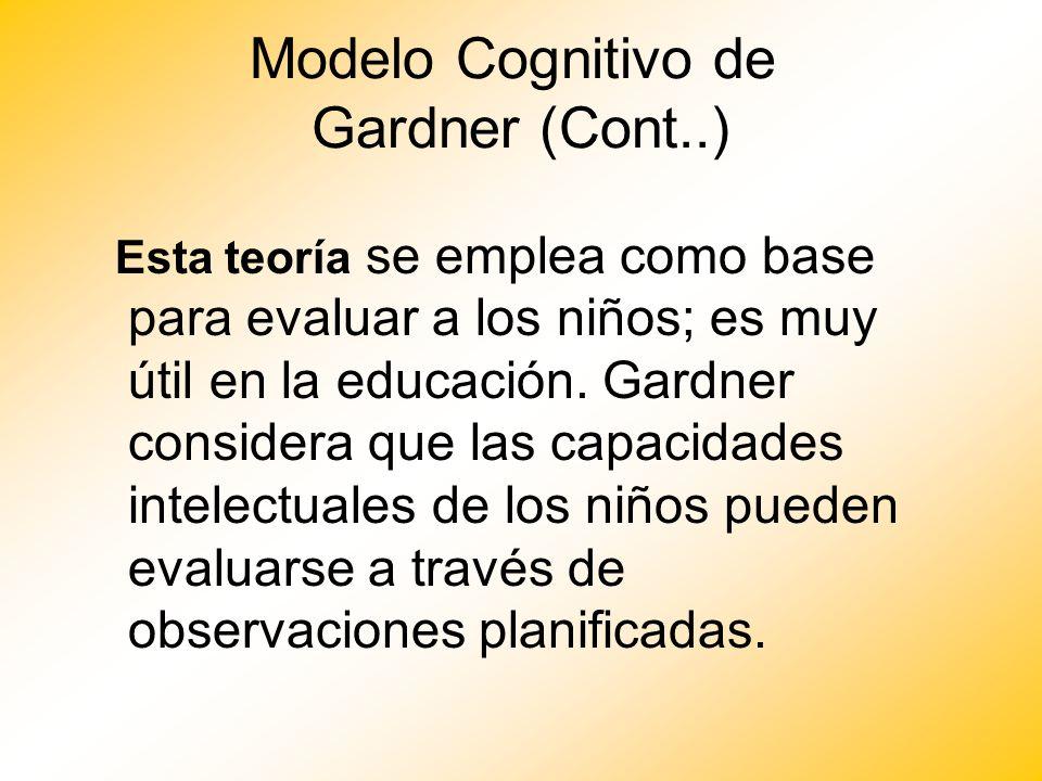 Modelo Cognitivo de Gardner (Cont..)