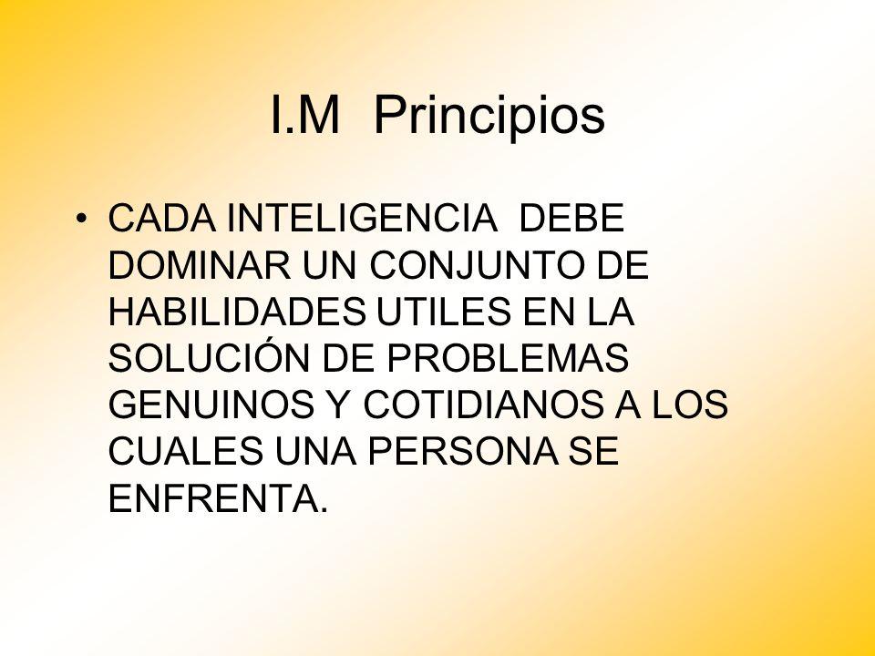 I.M Principios