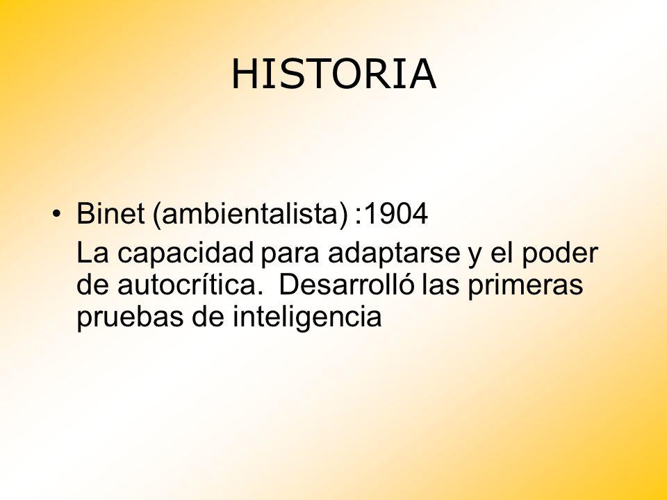 HISTORIA Binet (ambientalista) :1904