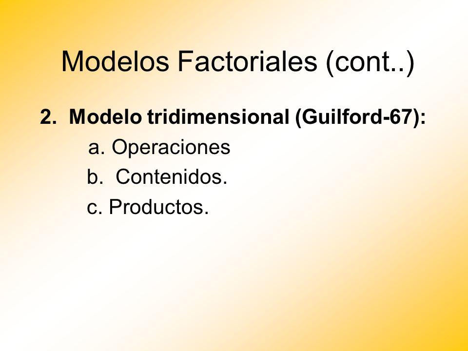 Modelos Factoriales (cont..)