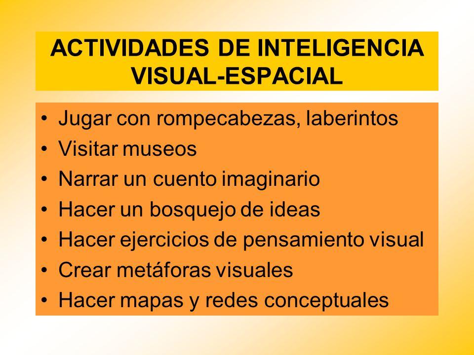 ACTIVIDADES DE INTELIGENCIA VISUAL-ESPACIAL