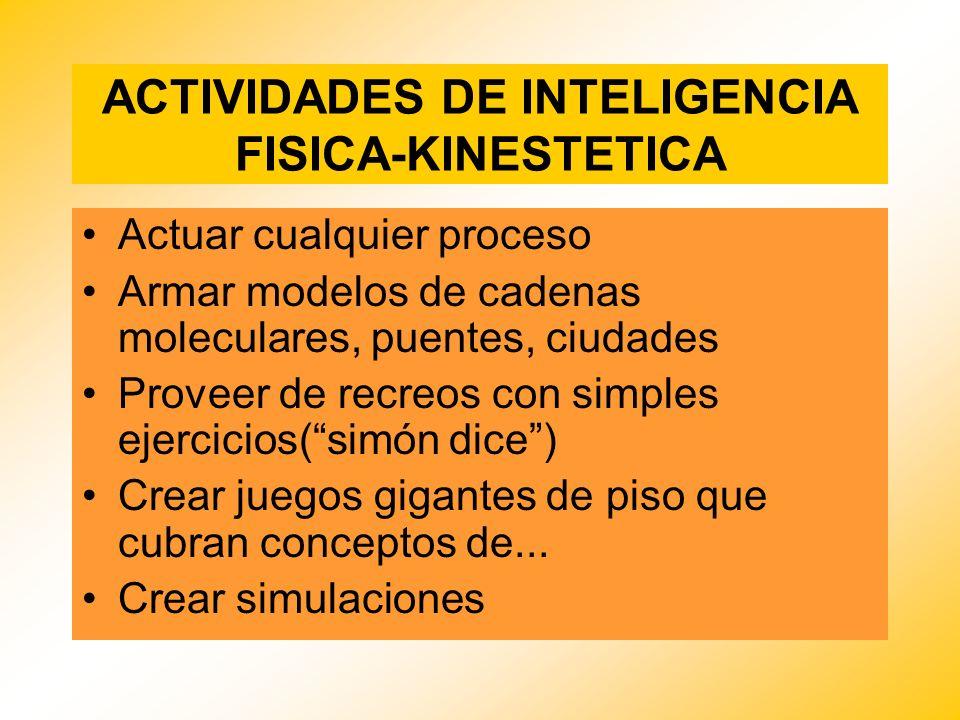 ACTIVIDADES DE INTELIGENCIA FISICA-KINESTETICA