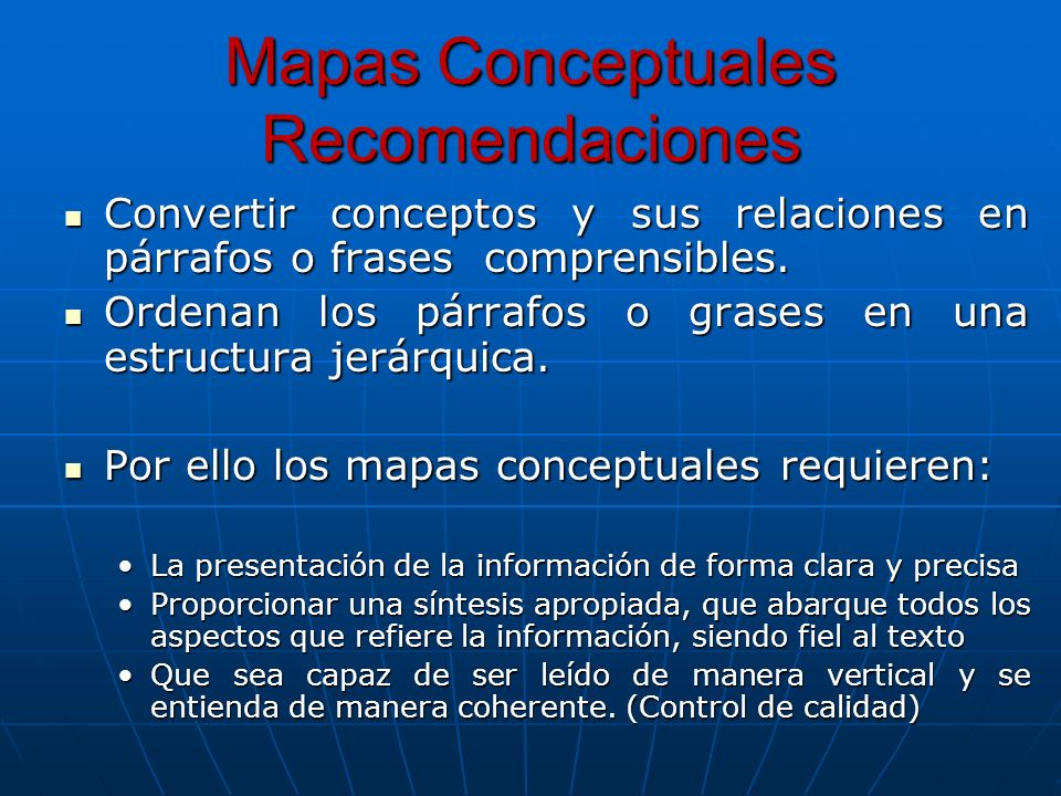 Mapas Conceptuales Recomendaciones