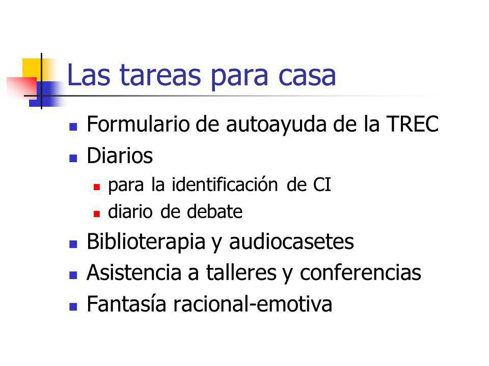 Las tareas para casa Formulario de autoayuda de la TREC Diarios