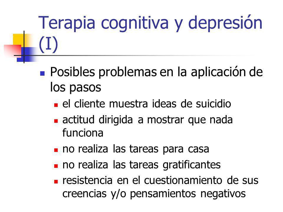 Terapia cognitiva y depresión (I)