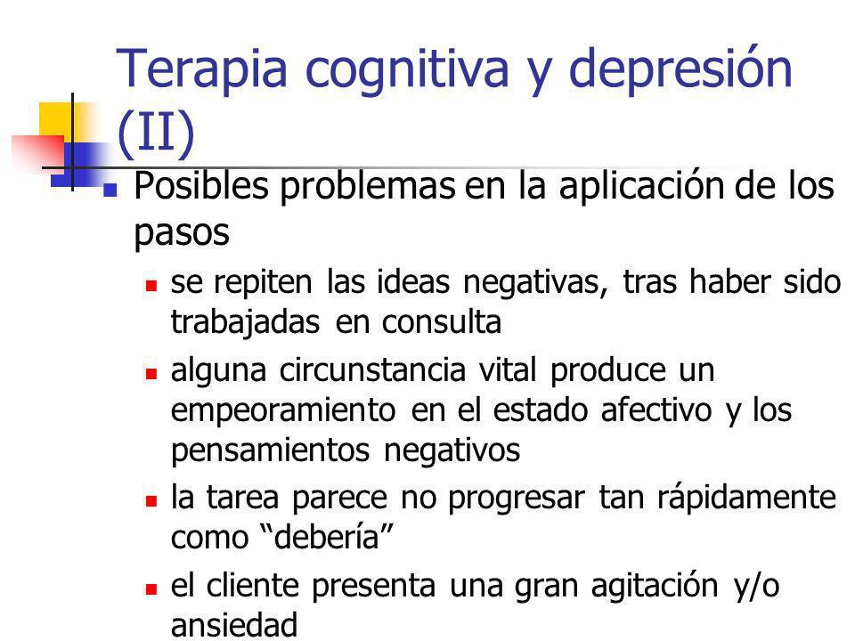 Terapia cognitiva y depresión (II)
