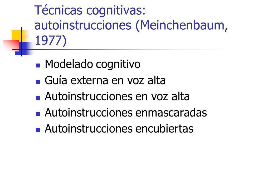 Técnicas cognitivas: autoinstrucciones (Meinchenbaum, 1977)