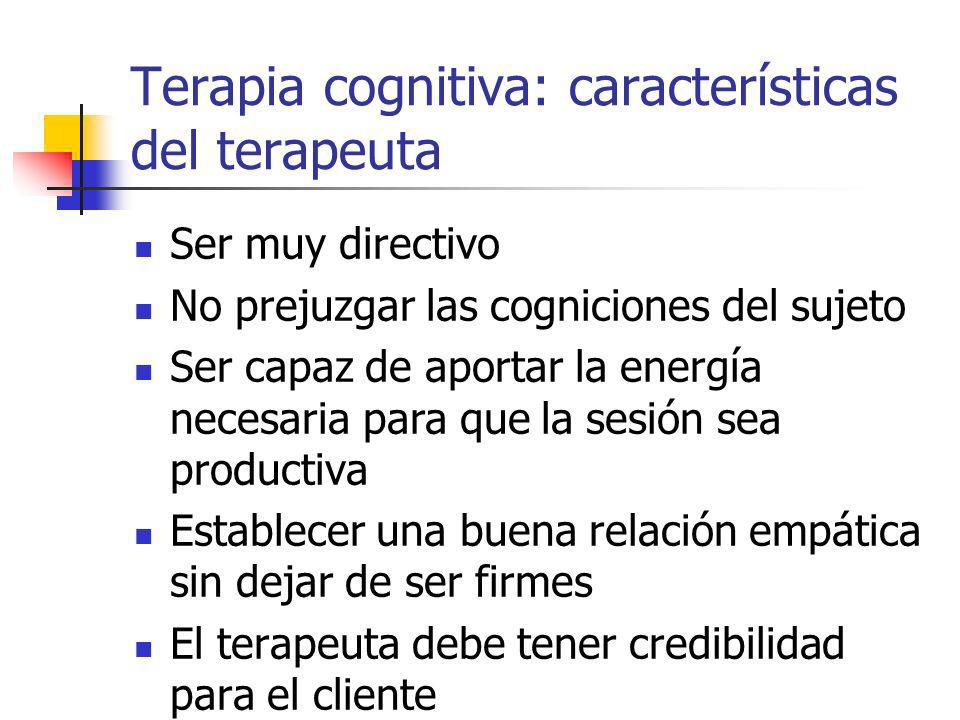 Terapia cognitiva: características del terapeuta
