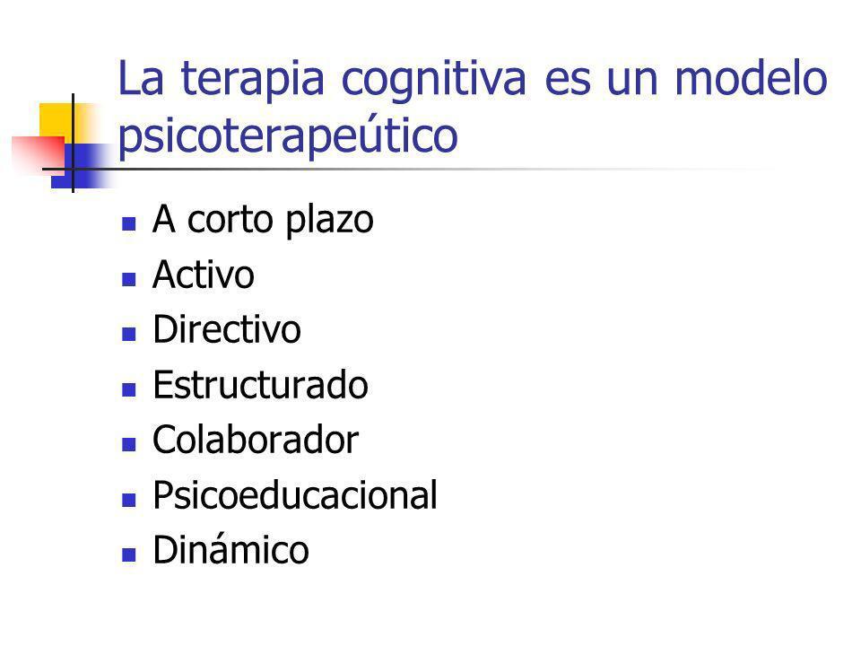La terapia cognitiva es un modelo psicoterapeútico
