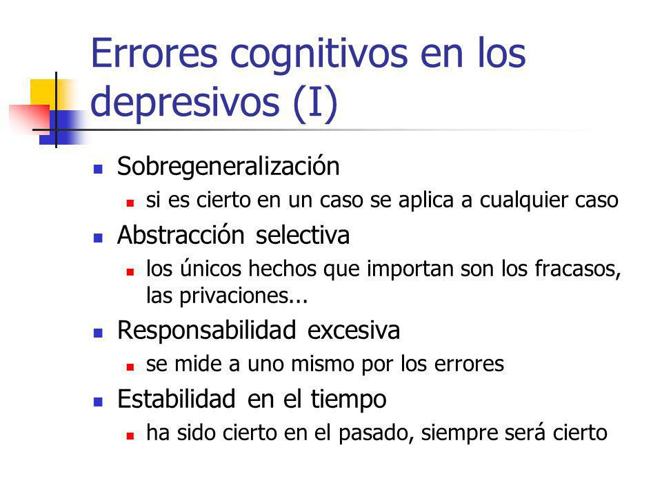 Errores cognitivos en los depresivos (I)