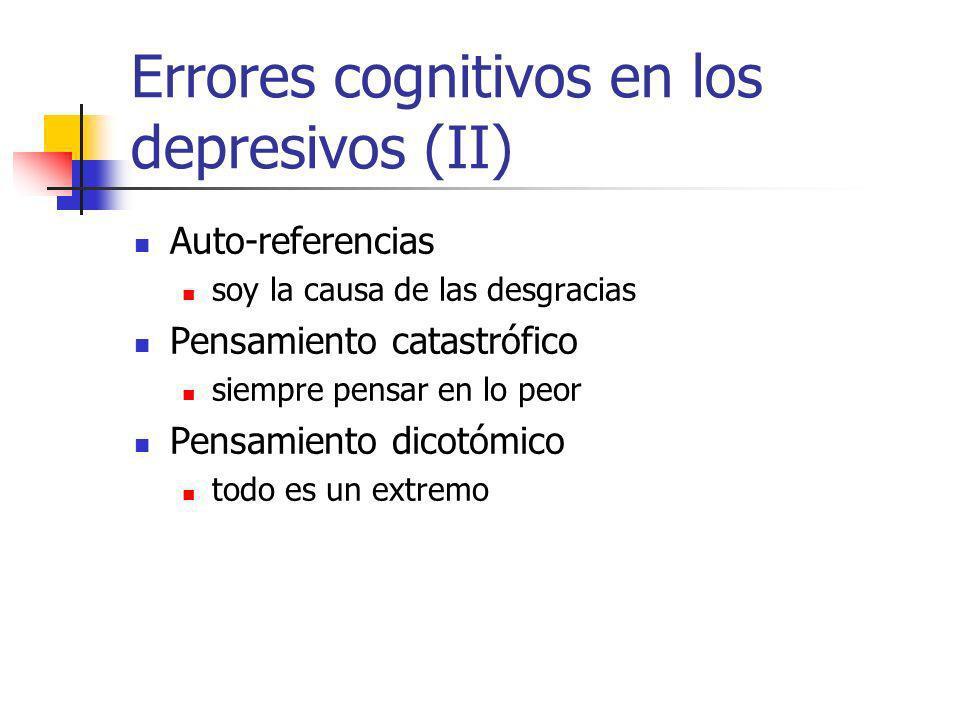 Errores cognitivos en los depresivos (II)