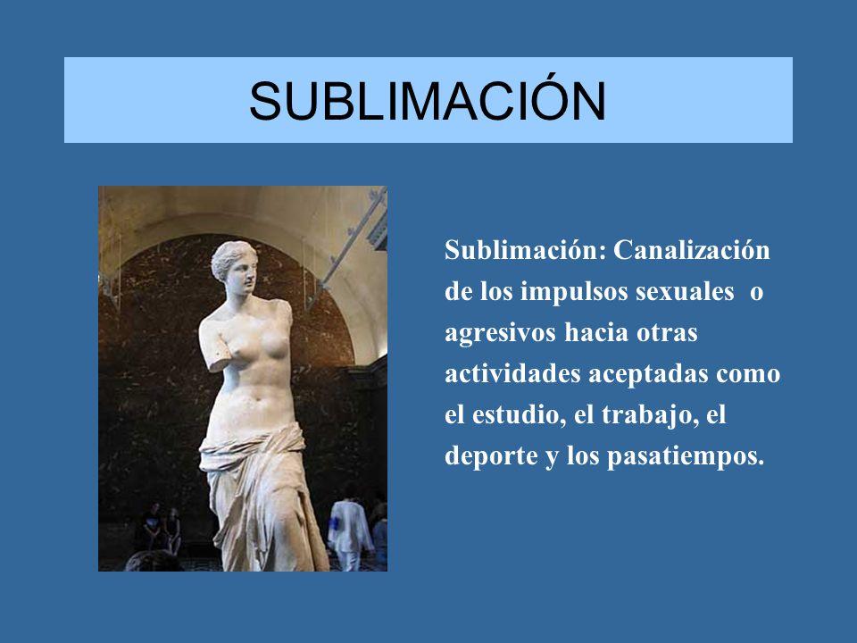 SUBLIMACIÓN Sublimación: Canalización de los impulsos sexuales o
