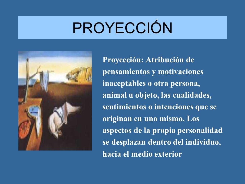PROYECCIÓN Proyección: Atribución de pensamientos y motivaciones