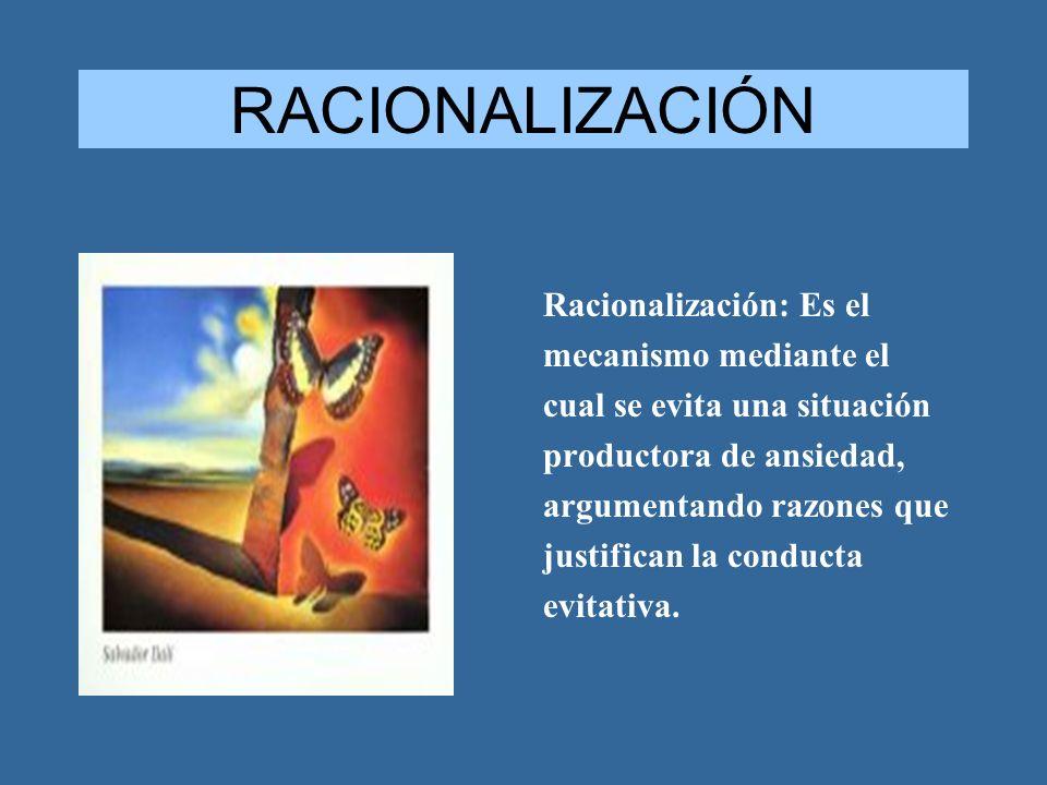 RACIONALIZACIÓN Racionalización: Es el mecanismo mediante el