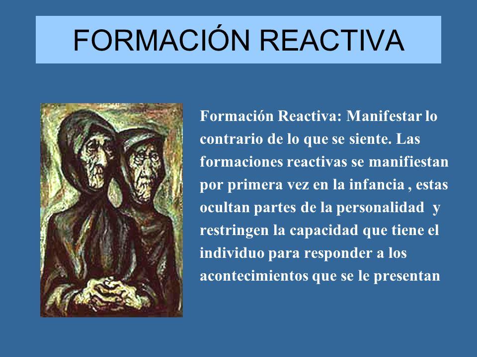FORMACIÓN REACTIVA Formación Reactiva: Manifestar lo