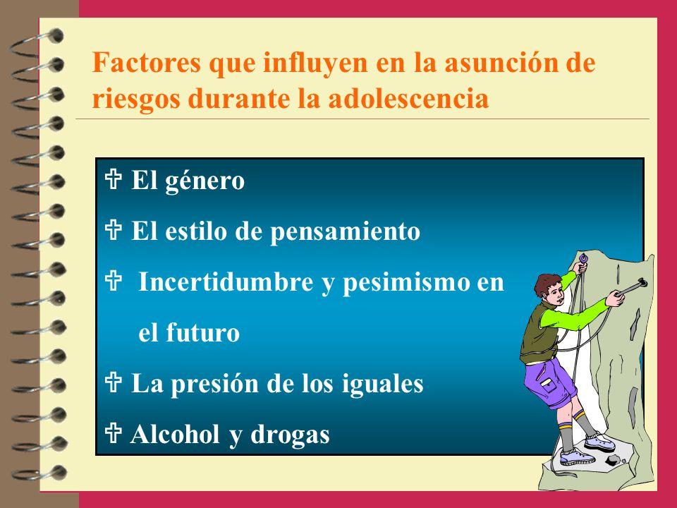 Factores que influyen en la asunción de riesgos durante la adolescencia