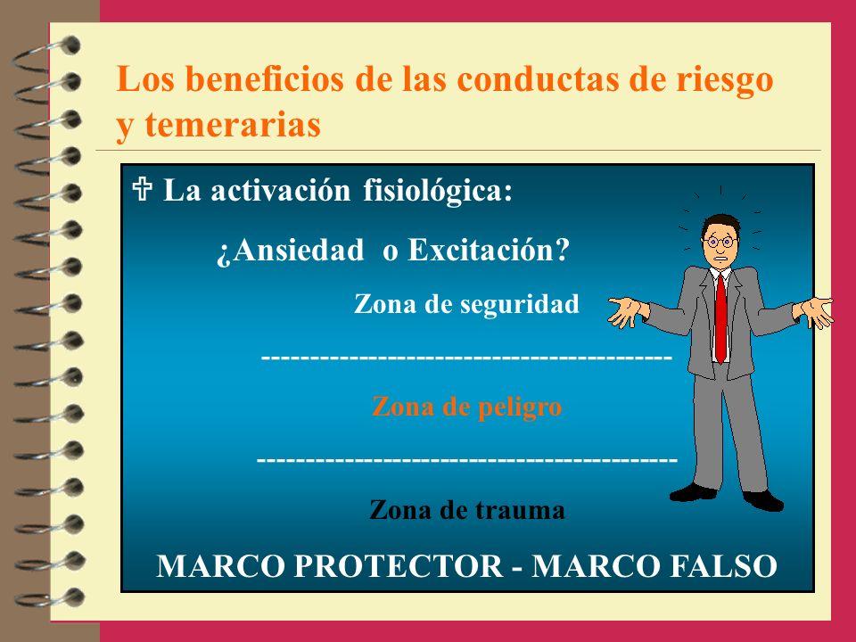 Los beneficios de las conductas de riesgo y temerarias