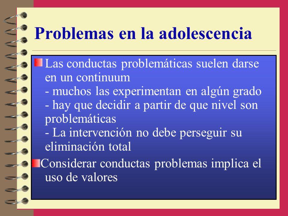 Problemas en la adolescencia