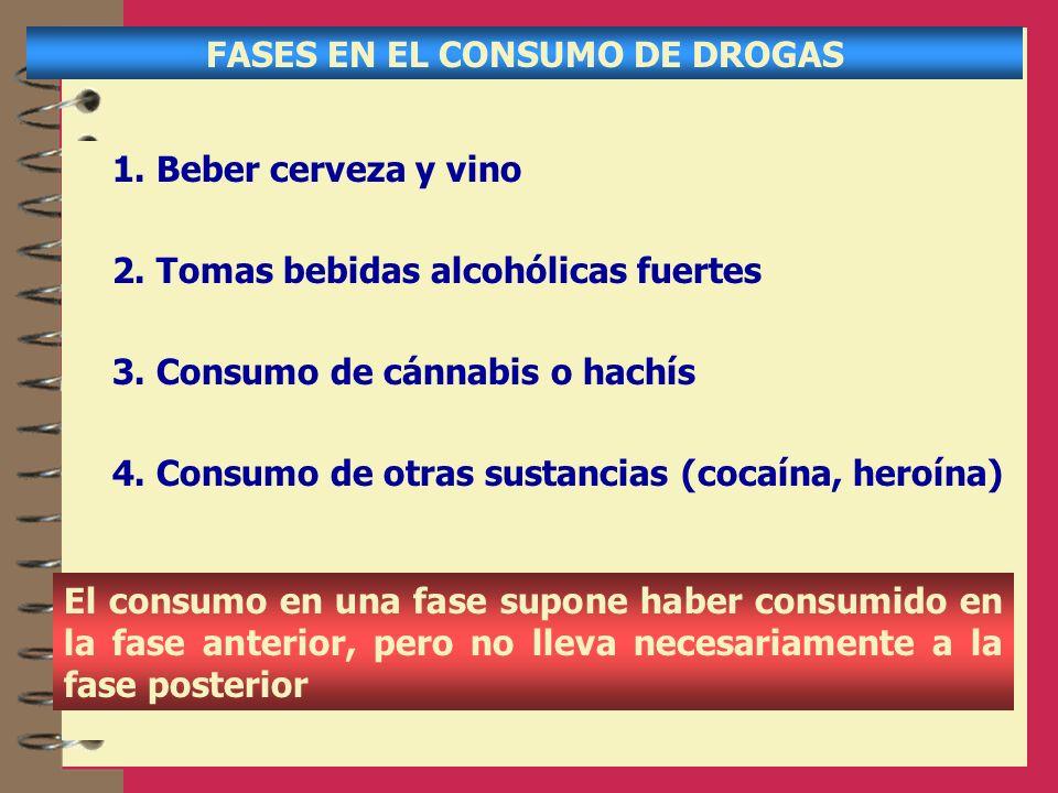 FASES EN EL CONSUMO DE DROGAS