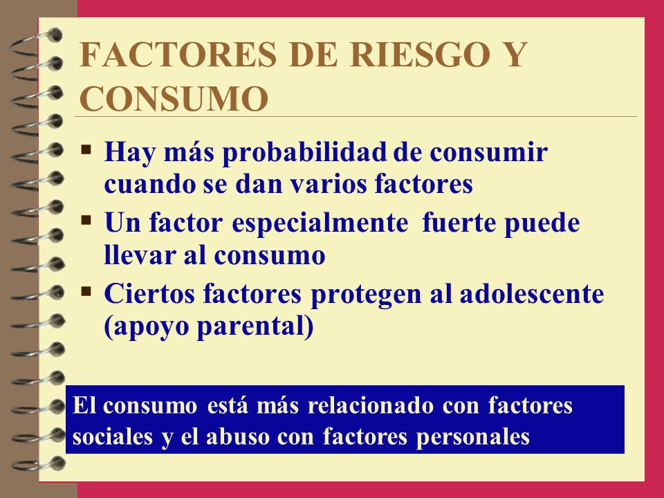 FACTORES DE RIESGO Y CONSUMO