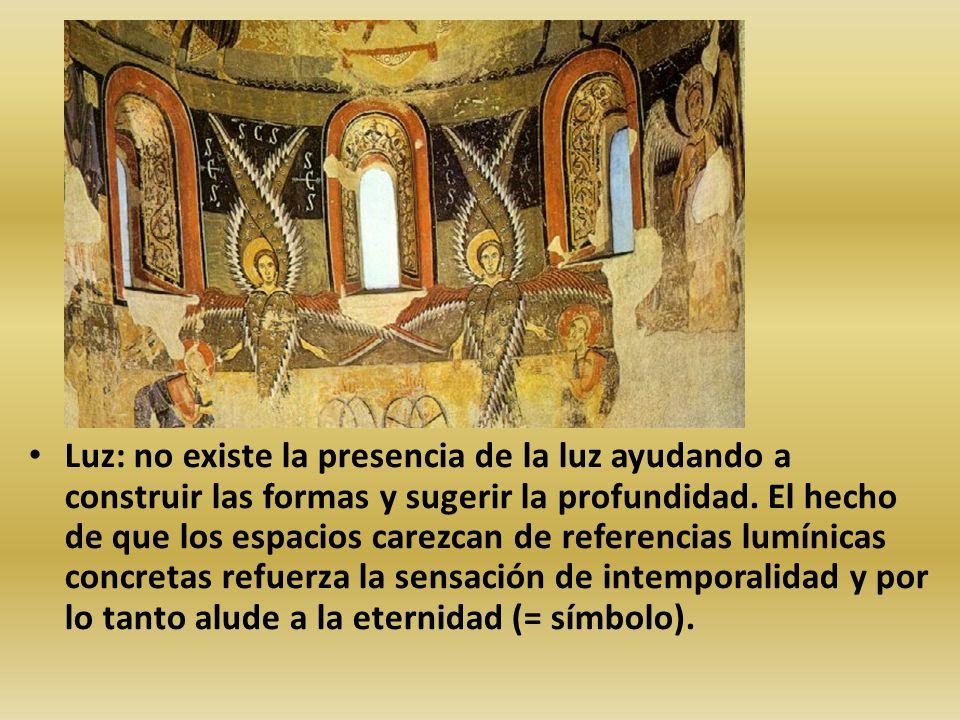 Luz: no existe la presencia de la luz ayudando a construir las formas y sugerir la profundidad.