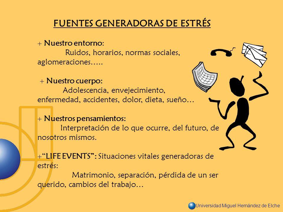FUENTES GENERADORAS DE ESTRÉS