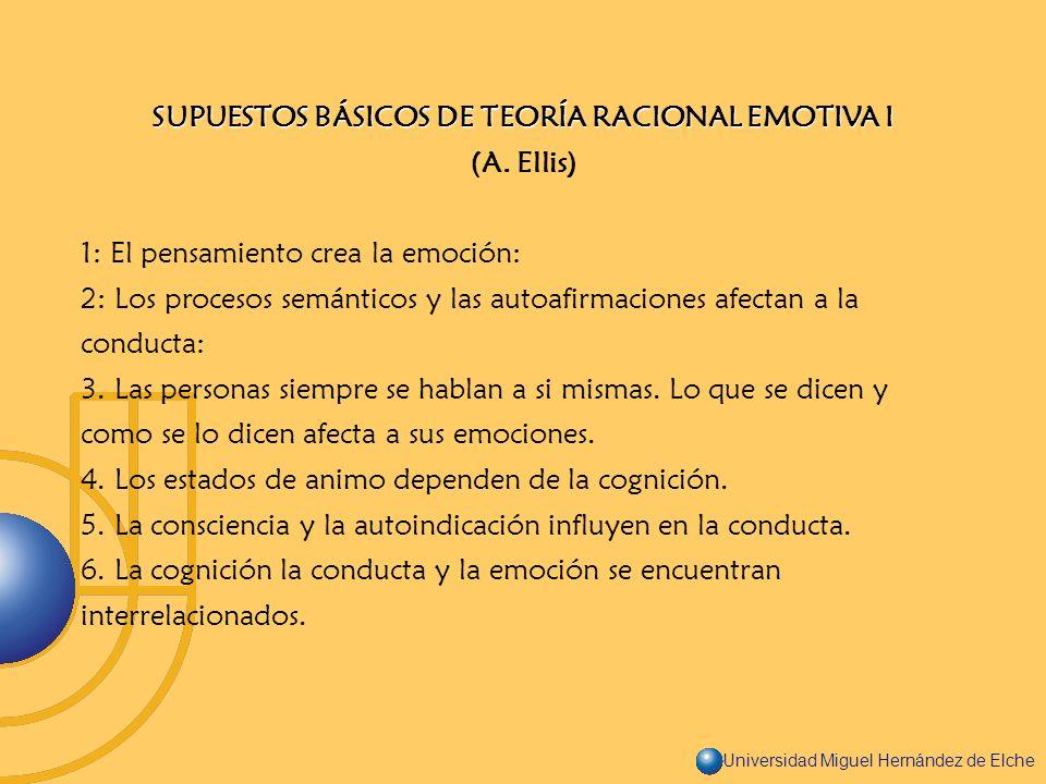SUPUESTOS BÁSICOS DE TEORÍA RACIONAL EMOTIVA I